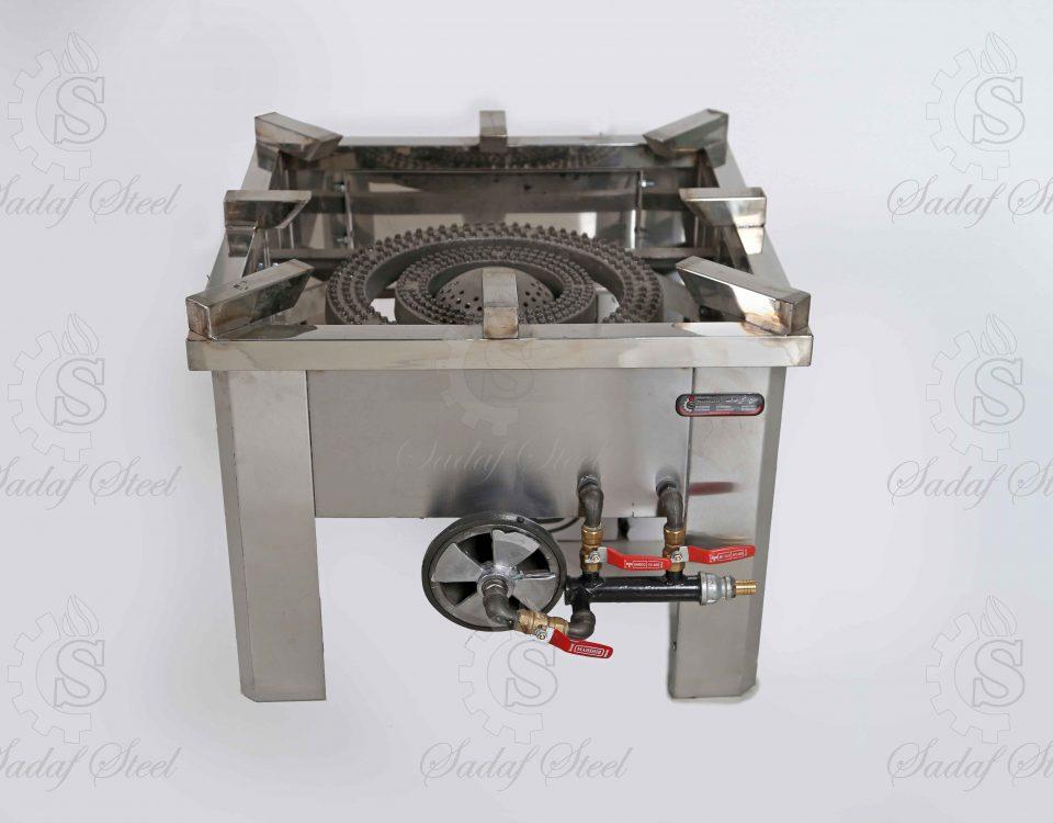 تجهیزات آشپزخانه صنعتی| اجاق پلوپز سه شعله | استیل صدف
