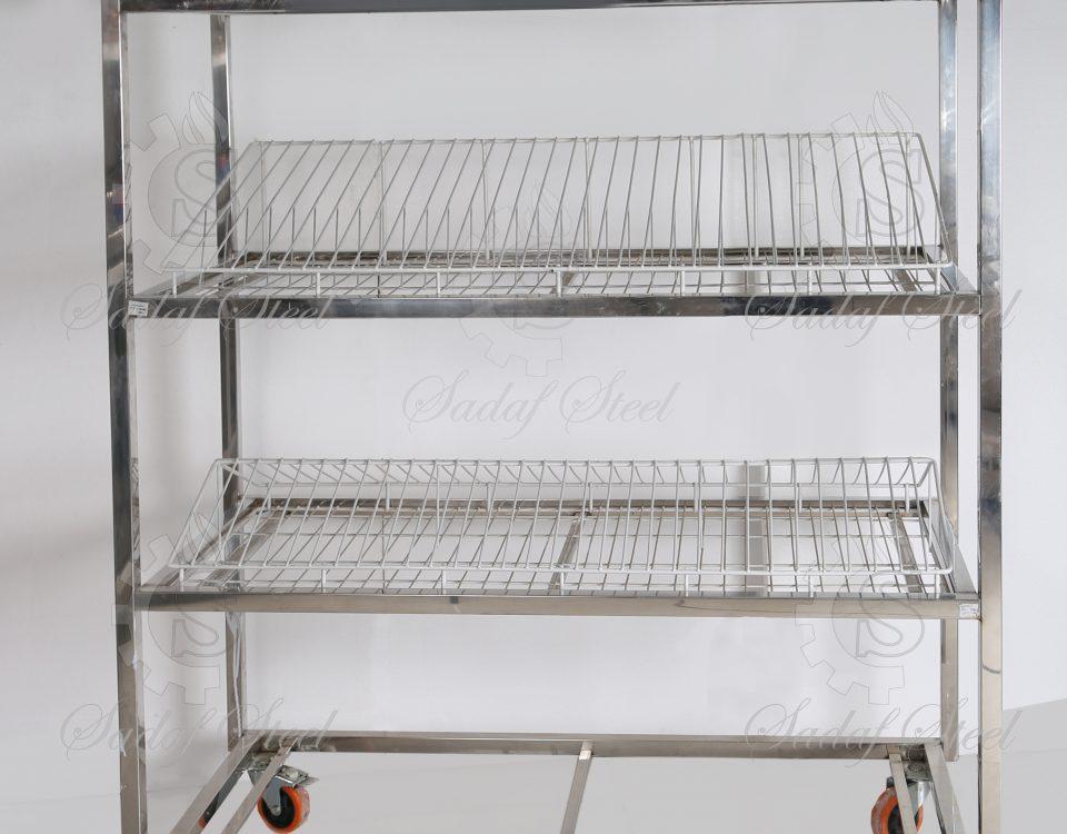 تجهیزات آشپزخانه صنعتی| ترولی آبچکان | استیل صدف