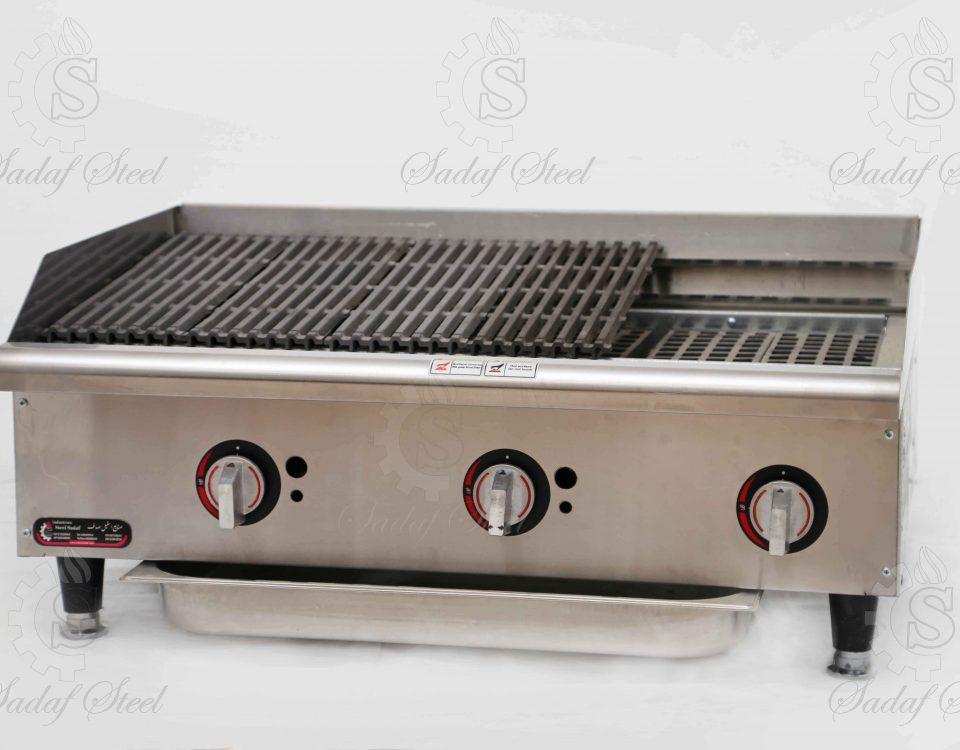 تجهیزات آشپزخانه صنعتی| گریل زغالی | استیل صدف