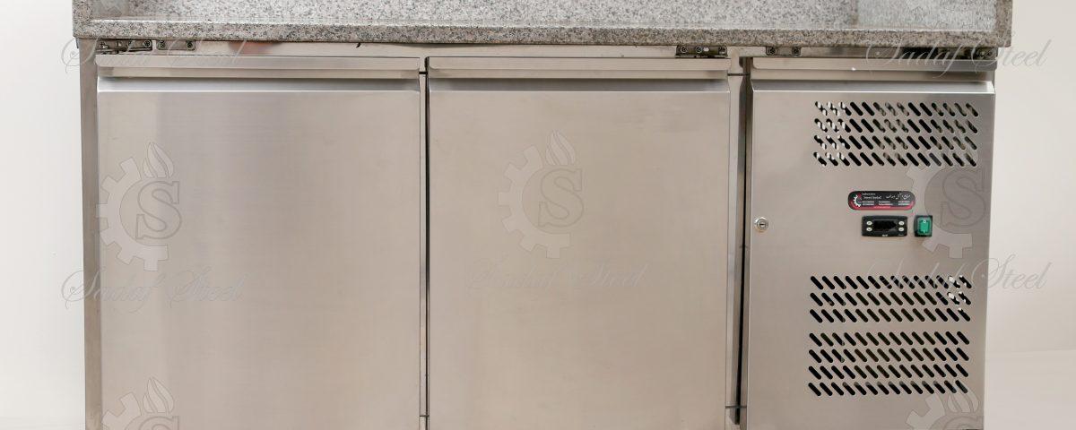 تجهیزات آشپزخانه صنعتی   یخچال رویه میز کار سنگ   استیل صدف