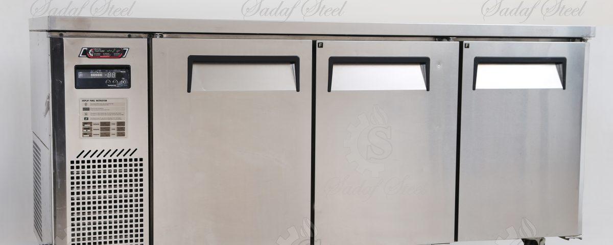 تجهیزات آشپزخانه صنعتی | یخچال رویه میز کار | استیل صدف