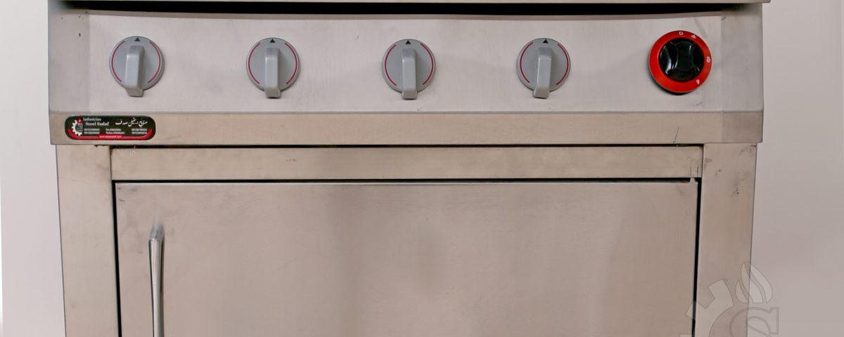 تجهیزات آشپزخانه صنعتی  چهار شعله فردار   استیل صدف