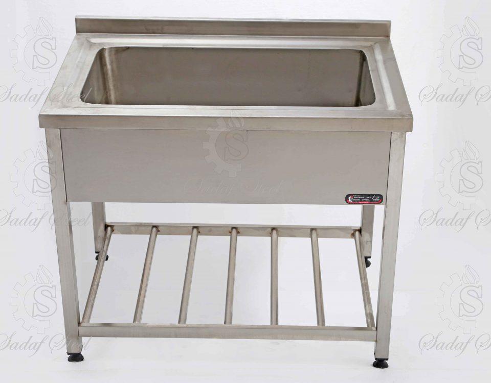 تجهیزات آشپزخانه صنعتی | وان شستشو | استیل صدف